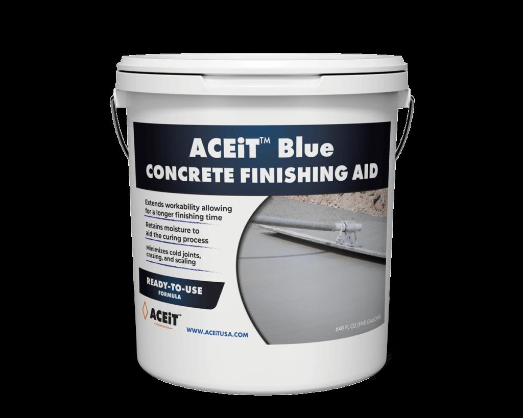 Concrete finishing aid bucket